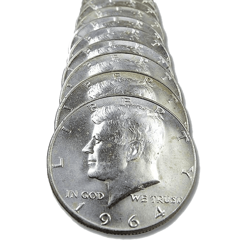 1964 Kennedy Half Dollar 20-Coin Rolls - Brilliant Uncirculated
