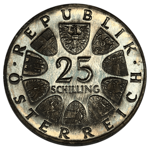 1965 Austria Silver 25 Schillings KM.2897 - Gem Proof