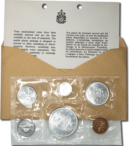 1965 Canada Prooflike Mint Set in OGP - Gem Uncirculated (1.11 ASW)