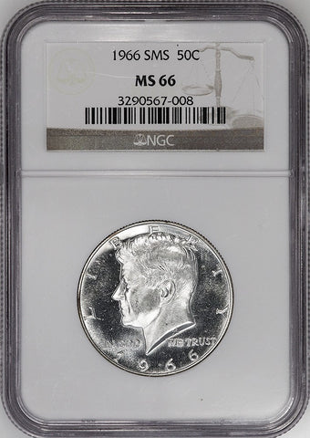 1966 SMS Kennedy Half Dollar - NGC MS 66