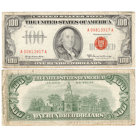 1966-A $100 U.S. Legal Tender Notes Fr. 1551 - Net Very Good+