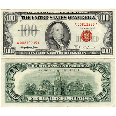 1966-A $100 U.S. Legal Tender Notes Fr. 1551 - Crisp Very Fine
