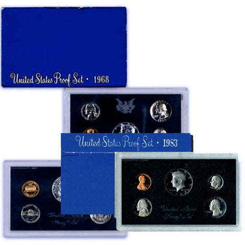 1968-S to 1983-S Blue Box Proof Set Deal - All 6 Sets
