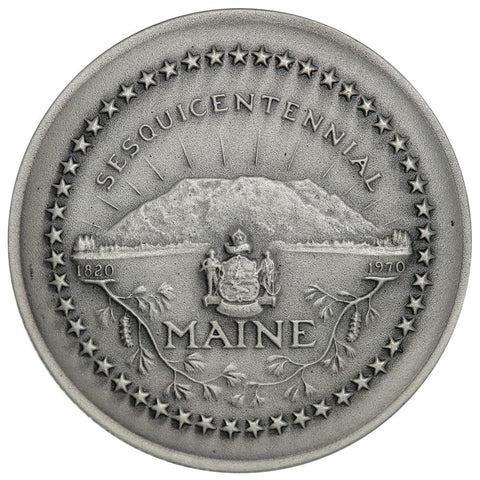 1970 .999 Silver Medallic Art Co. Maine Sesquicentennial Medal in Original Box