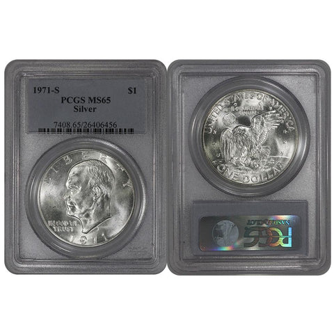 1971-S Silver Eisenhower Dollar - PCGS MS65