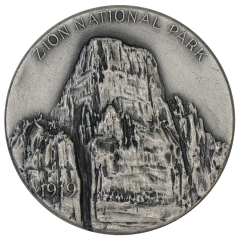 1972 .999 Silver Medallic Art Co. Zion National Parks Medal - 39mm