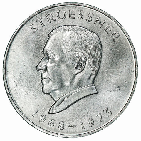 1973 Paraguay Silver 300 Guaranies Stroessner KM.29 - Brilliant Uncirculated