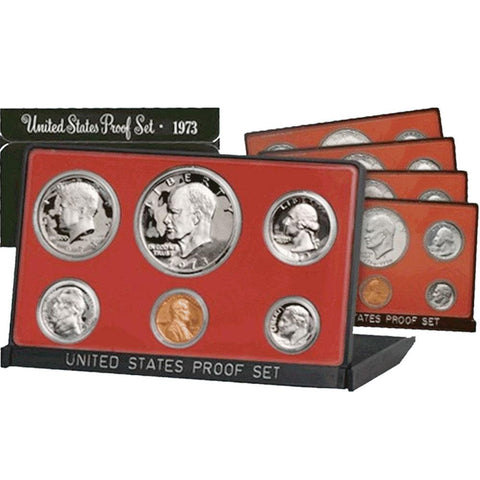 "Ten Set 1973 to 1982-S ""Black Box"" Proof Set Deal"