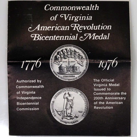 1976 Virginia Independence Bicentennial .750 (18K) Medallic Art Gold Medal - Scarce!