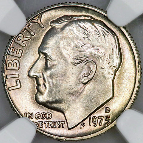 1975-D Roosevelt Dime - NGC MS 66 FT (Full Torch)