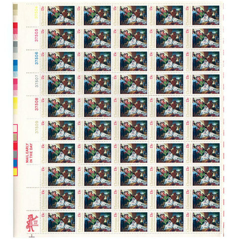 1976 13c Scott #1701 Traditional Christmas: Nativity Sheet (50) MNH