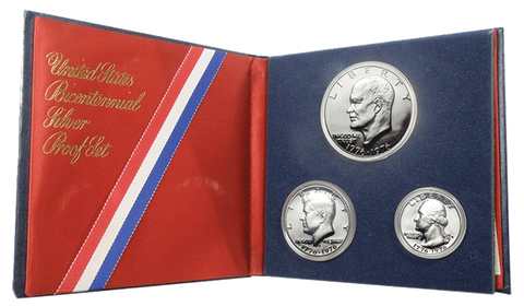 1976 Silver Bicentennial Sets Special - Both 3 Piece Sets