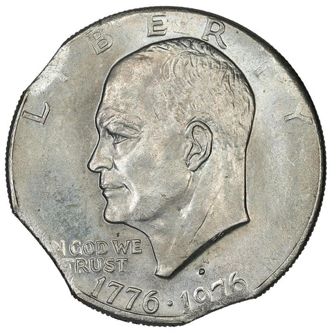 1976-D Eisenhower Dollar - Triple Clip - About Uncirculated