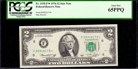 1976 $2 Federal Reserve Star Note (Atlanta District) Fr. 1935-F* - PCGS Gem New PPQ