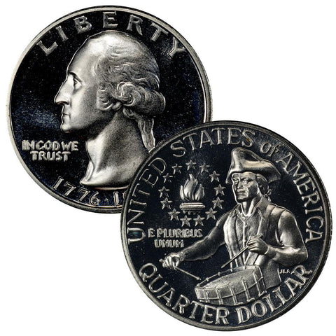 1976-S Proof Bicentennial Silver Quarter - Superb Gem Proof in Original Plastic