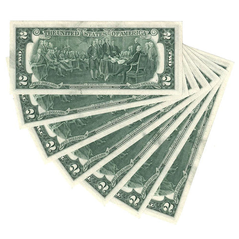 6 Consecutive 1976 Federal Reserve Richmond Star Notes Fr. 1935-E* - Uncirculated