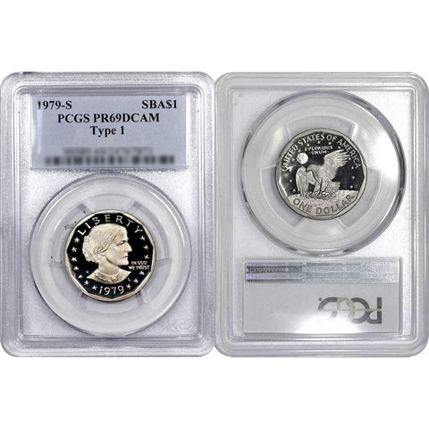 1979-S Type-1 Susan B. Anthony Dollar - PCGS PR 69 DCAM