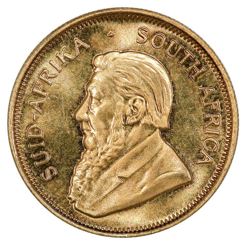 1980 South Africa 1/4 Ounce Gold Krugerrands KM.1065 - Gem Brilliant Uncirculated