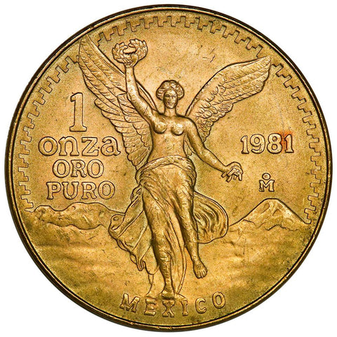 1981-MO Mexico Gold Onza KM. 489 - About Uncirculated