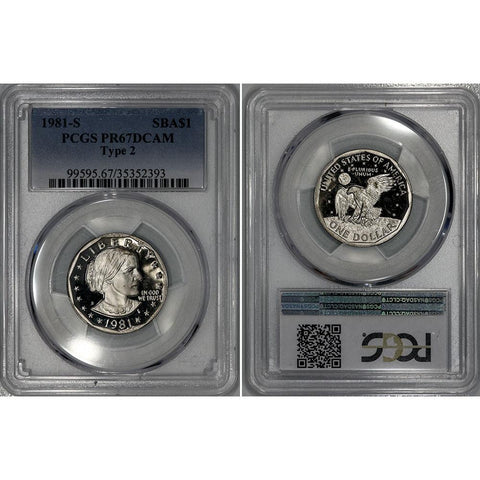 1981-S Type-2 Susan B. Anthony Dollar - PCGS PR 67 DCAM