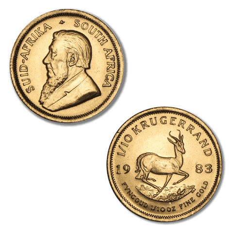 1983 South Africa 10th Ounce Gold Krugerrands KM.105 - Gem Brilliant Uncirculated