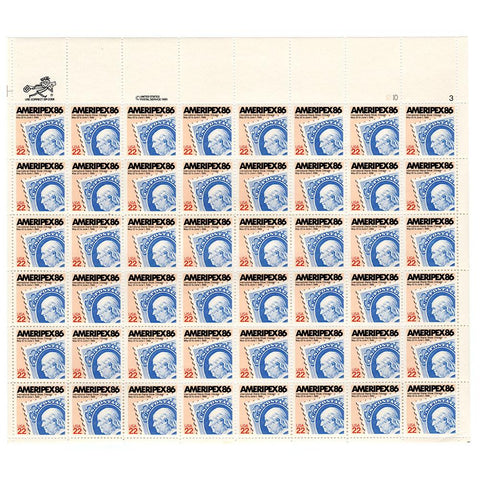 1985 22c Scott #2145 Ameripex '86 Sheet (48) - MNH