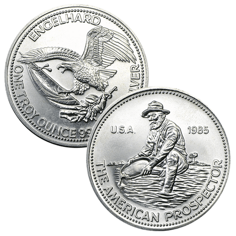 1985 Engelhard American Prospector 1 oz. Silver Rounds