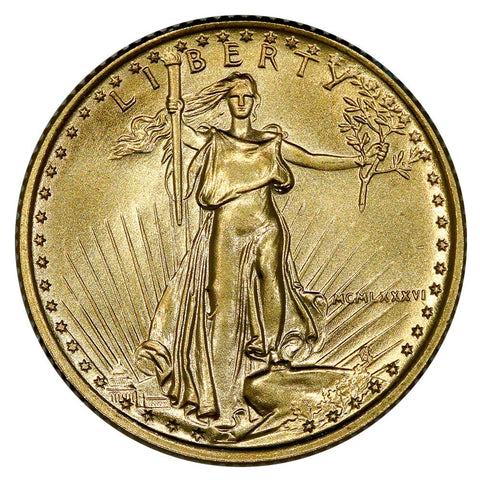 1986 $5 1/10oz American Gold Eagle - Gem Uncirculated