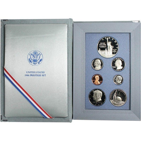 1986 U.S. Mint Prestige Proof Sets in Original Government Packaging on Special