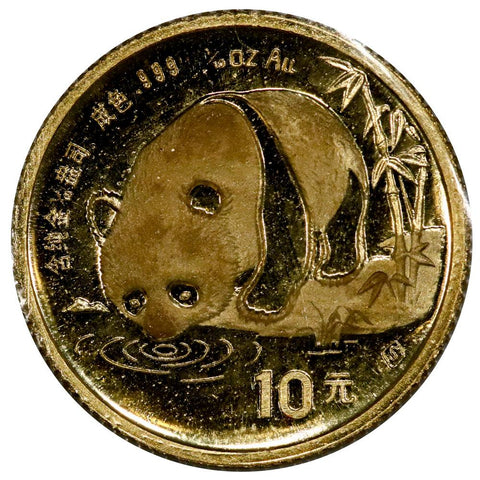 1987-S China 10 Yuan 1/10 oz Gold Panda - Gem Uncirculated in Mint Plastic