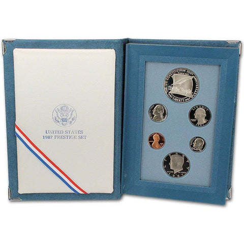 1987 U.S. Mint Prestige Proof Sets in Original Government Packaging on Special