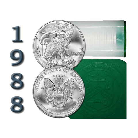 1988 American Silver Eagle Mint Roll of 20