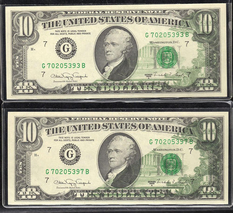 1988-A Chicago Federal Reserve Note Printed Foldover Error With Companion Notes