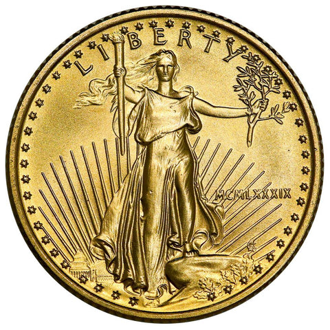 1989 $10 1/4 Oz Quarter Ounce Gold Eagles - Gem Uncirculated