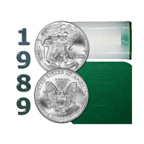 1989 American Silver Eagle Mint Roll of 20