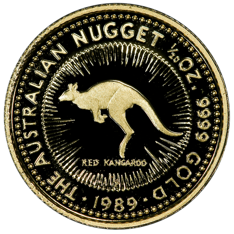 "1989 Australia $5 20th Ounce Gold ""Red Kangaroo"" Coins- Gem Proof in OGP"