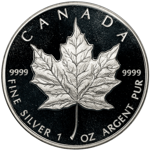 1989 Canada $5 Proof Anniversary Maple Leaf KM.163 - In Capsule