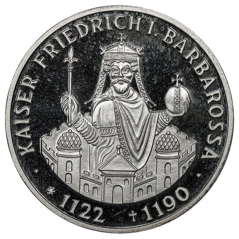1990-F Germany Silver 10 Mark KM.174 - Gem Proof