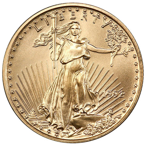 1992 $10 1/4 Oz Quarter Ounce Gold Eagle - Gem Uncirculated