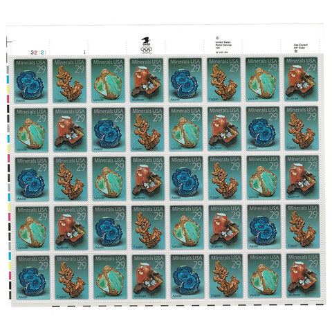 1992 29c Scott #2700-2703 Minerals Sheet (40) - MNH