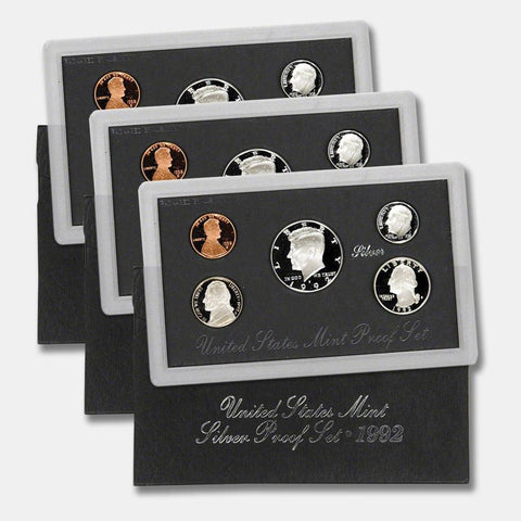 "1992-1998 ""Black Pack"" Silver Proof Set  - All 7 Set Special"