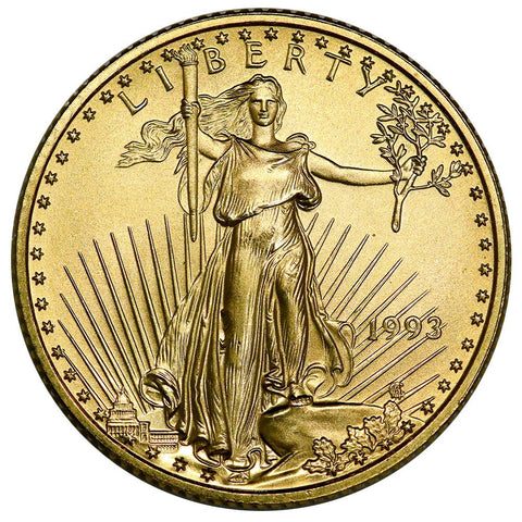 1993 $10 1/4 Oz Quarter Ounce Gold Eagle - Gem Uncirculated