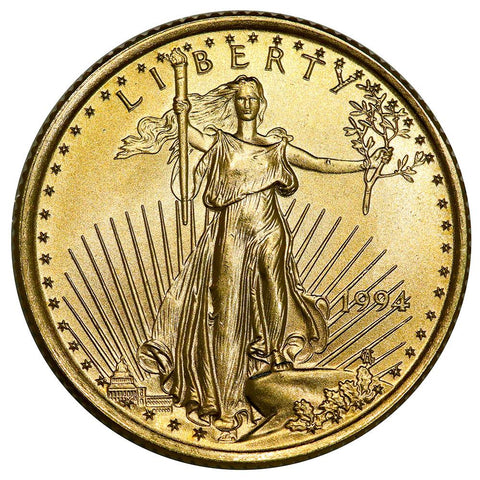 1994 $10 1/4 Oz Quarter Ounce Gold Eagle - Gem Uncirculated