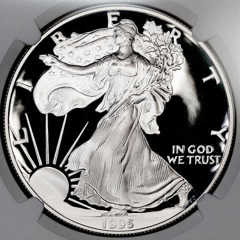 1995-W Proof American Silver Eagle in NGC PF 69 Ultra Cameo