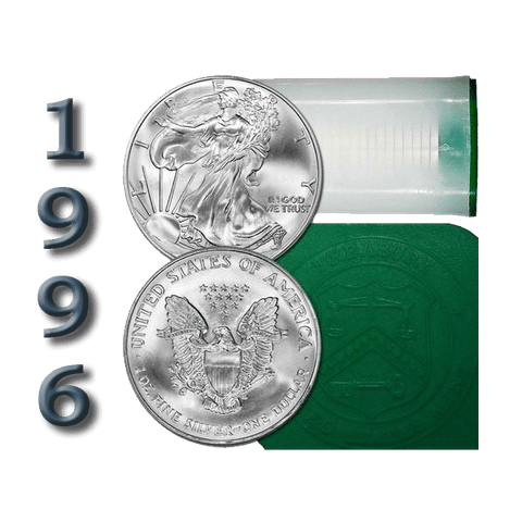 1996 American Silver Eagle Mint Roll of 20