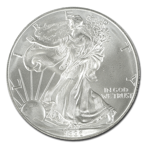 Imperfect 1996 American Silver Eagles - Just Shy Of Working For Us