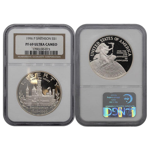 1996-P Smithsonian Commemorative Dollar - NGC PF69 Ultra Cameo