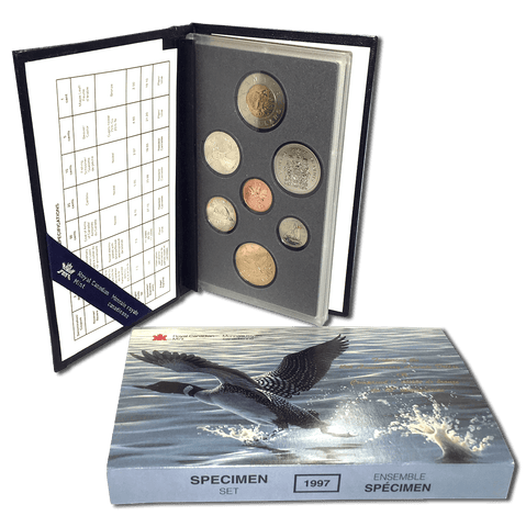 1997 Canada 7-Coin Loon 10th Anniversary Specimen Set - Gem Specimen