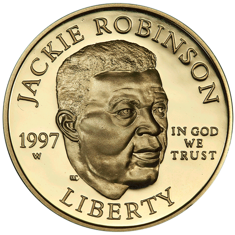 1997-W Jackie Robinson $5 Commemorative Gold ~ Superb Proof