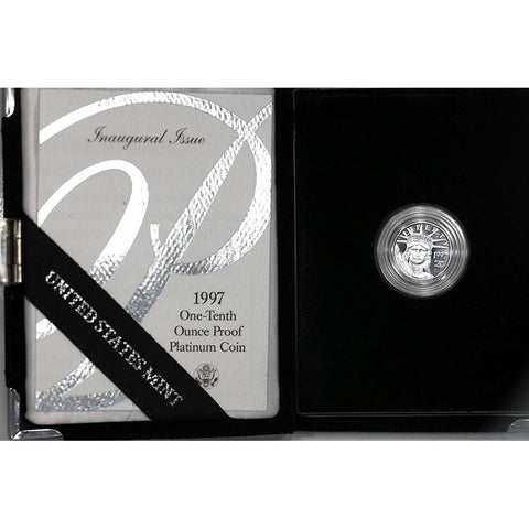 1997 $10 10th oz Proof Platinum American Eagle in OGP with COA